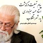 پیام تسلیت درگذشت حمید سبزواری موسسه بین المللی صلح