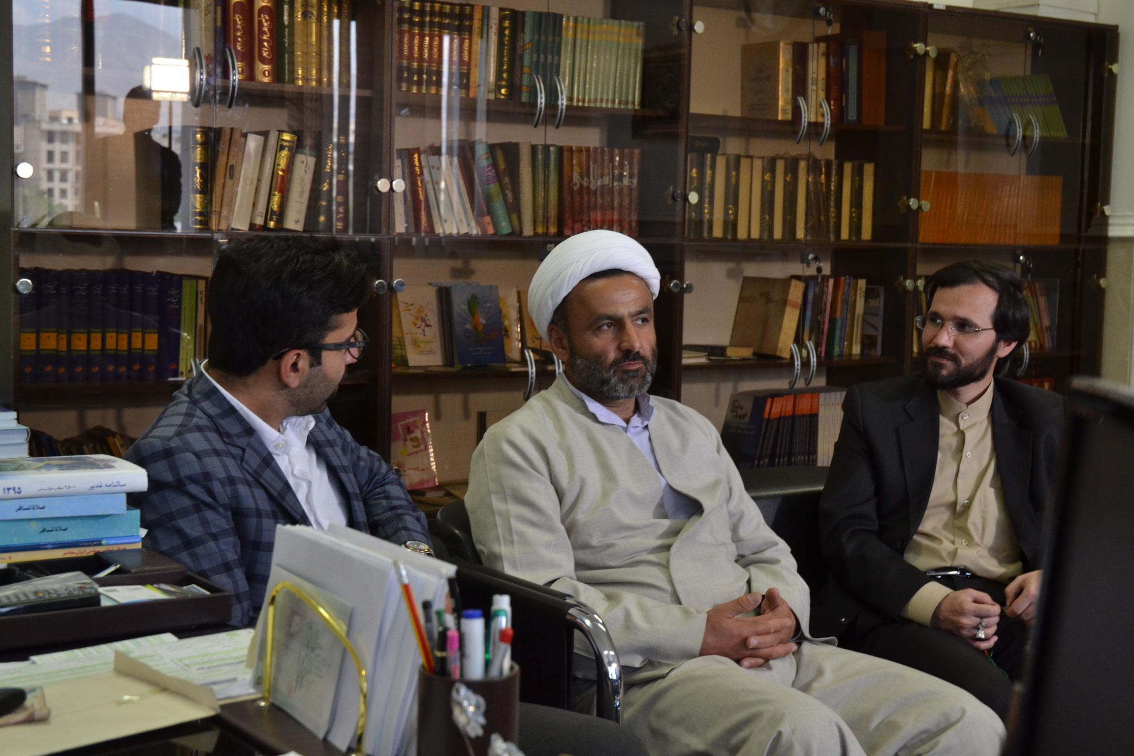 دیدار دوستانه مهندس سید مهدی حسینی با حاج آقای شمشاد