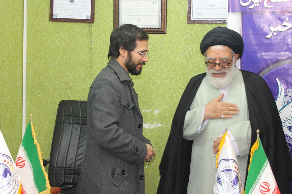 مهندس حسینی و تقدیر از آیت الله جعفری توسط موسسه بین المللی صلح