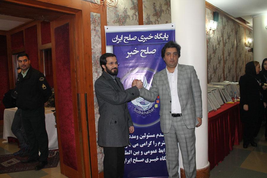 مهندس حسینی و مهندس سیاری مدیر موسسه عالی ماهان